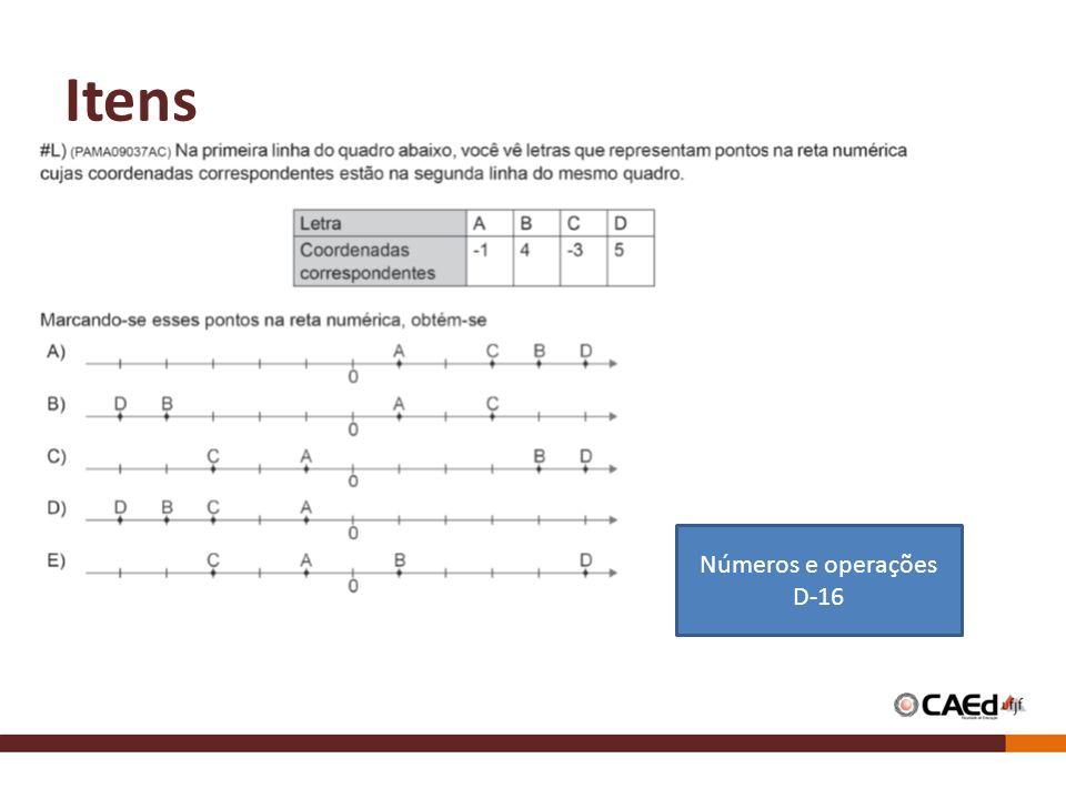 Itens Números e operações D-16