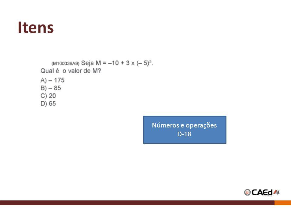 Itens Números e operações D-18