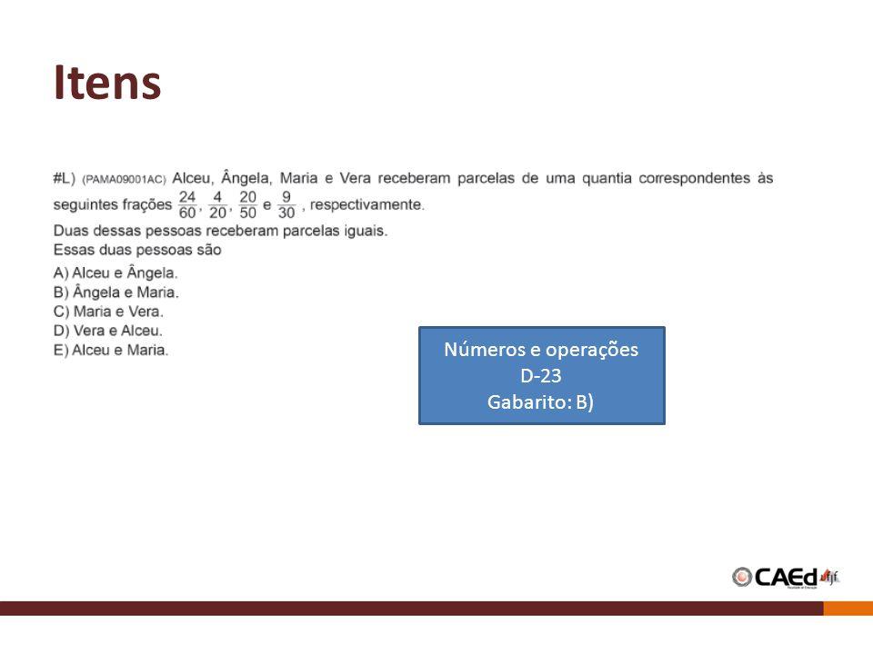 Itens Números e operações D-23 Gabarito: B)