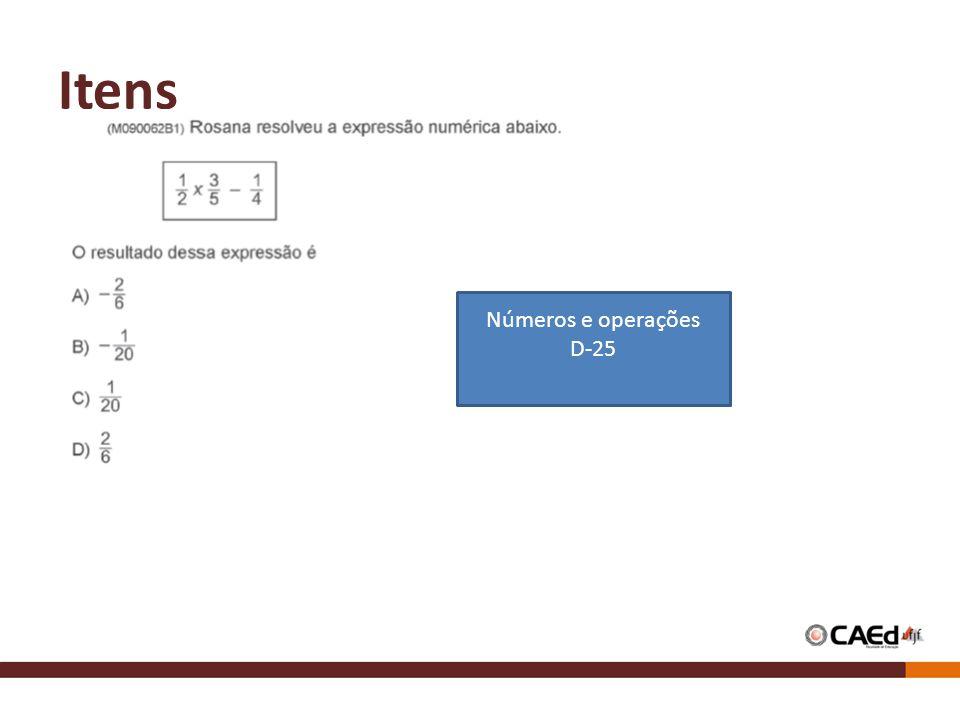 Itens Números e operações D-25