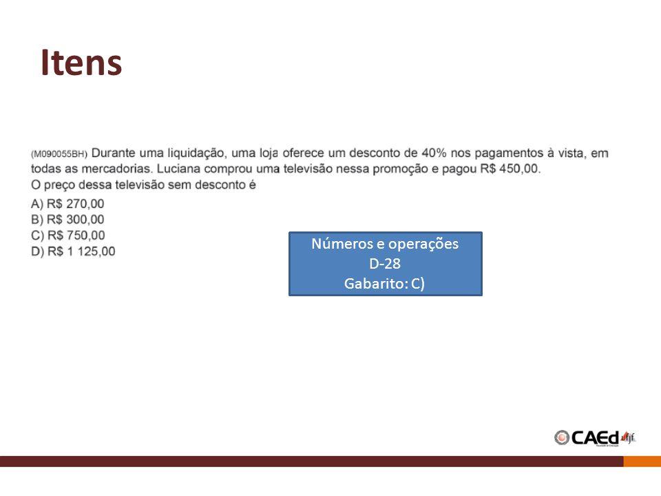 Itens Números e operações D-28 Gabarito: C)