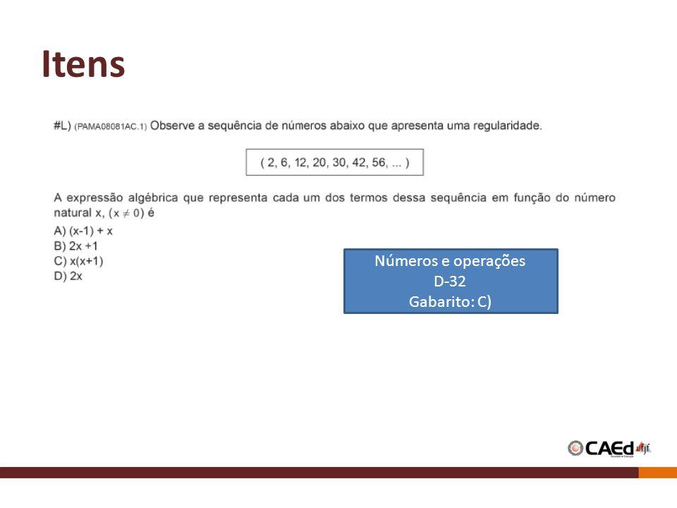 Itens Números e operações D-32 Gabarito: C)