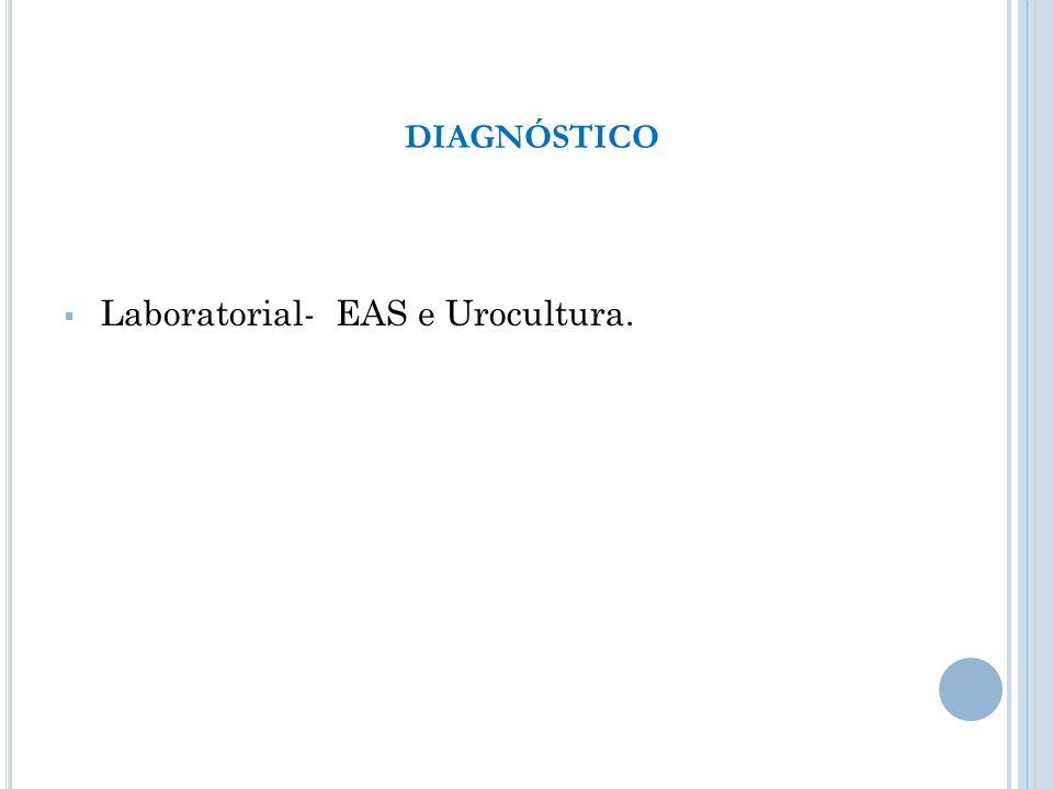 DIAGNÓSTICO Laboratorial- EAS e Urocultura.