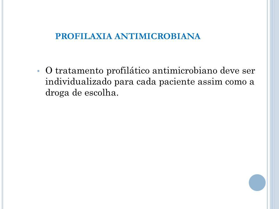 PROFILAXIA ANTIMICROBIANA