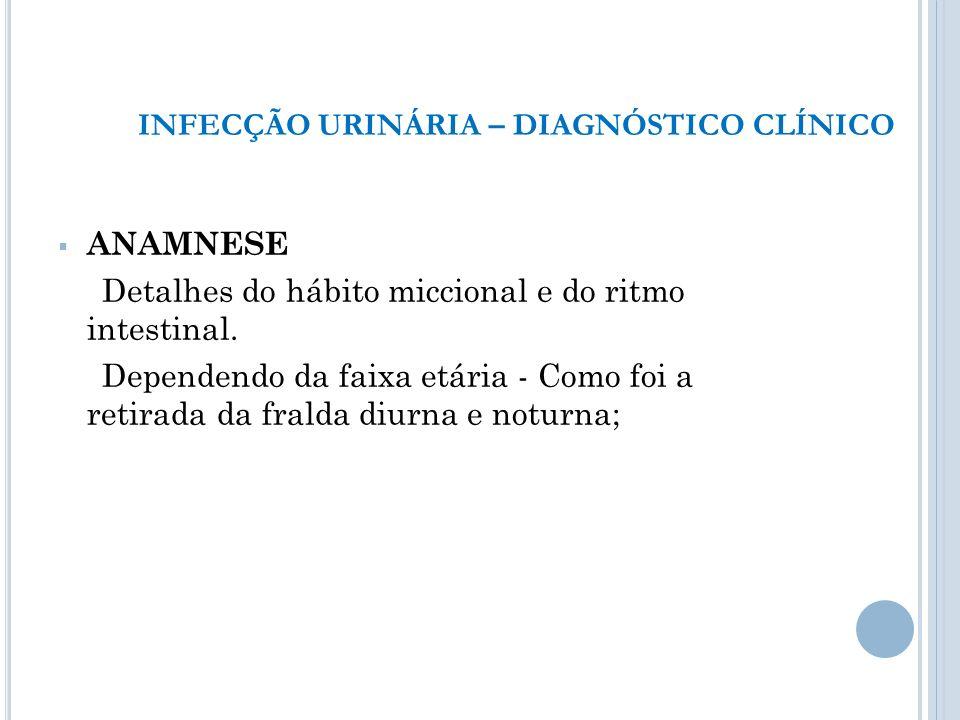 INFECÇÃO URINÁRIA – DIAGNÓSTICO CLÍNICO