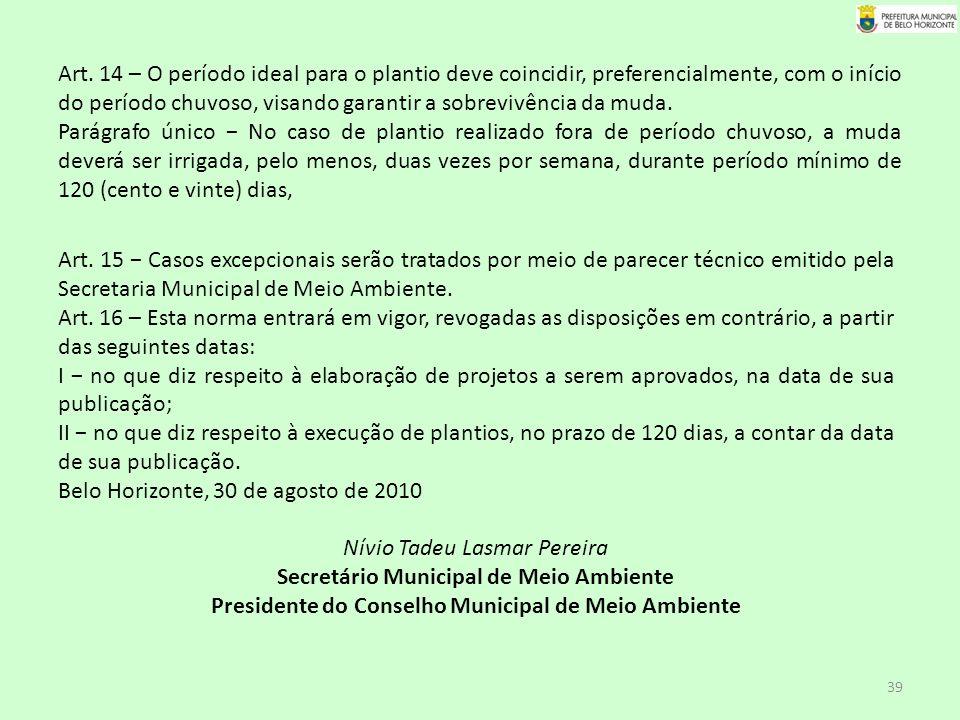 Belo Horizonte, 30 de agosto de 2010 Nívio Tadeu Lasmar Pereira