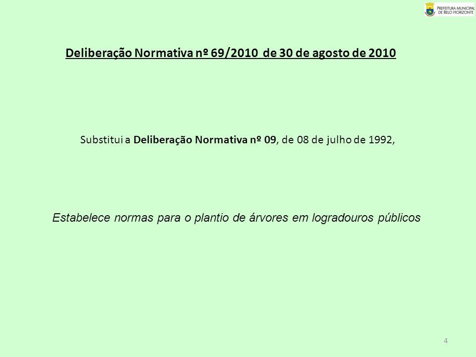 Deliberação Normativa nº 69/2010 de 30 de agosto de 2010