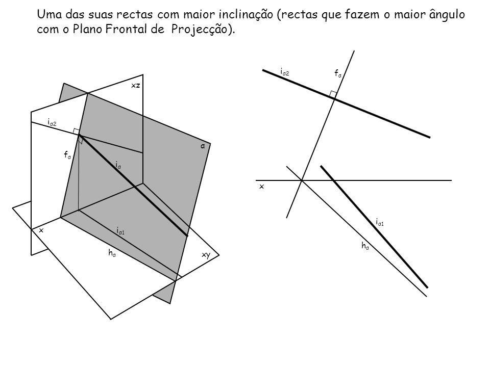 Uma das suas rectas com maior inclinação (rectas que fazem o maior ângulo com o Plano Frontal de Projecção).