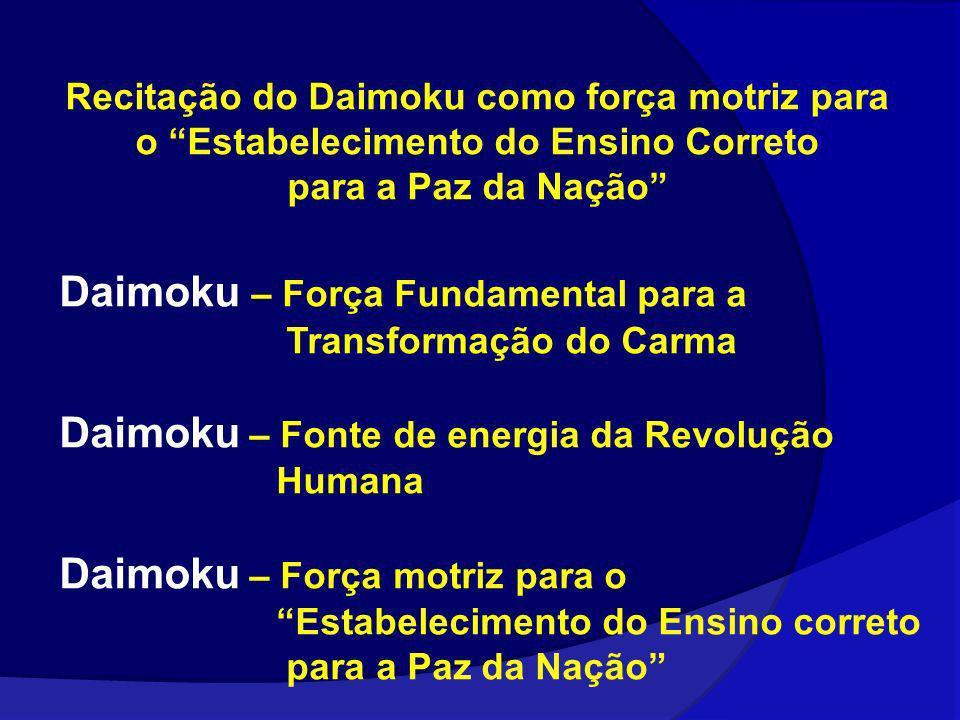 Daimoku – Força Fundamental para a