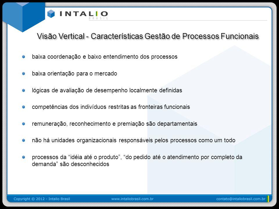 Visão Vertical - Características Gestão de Processos Funcionais