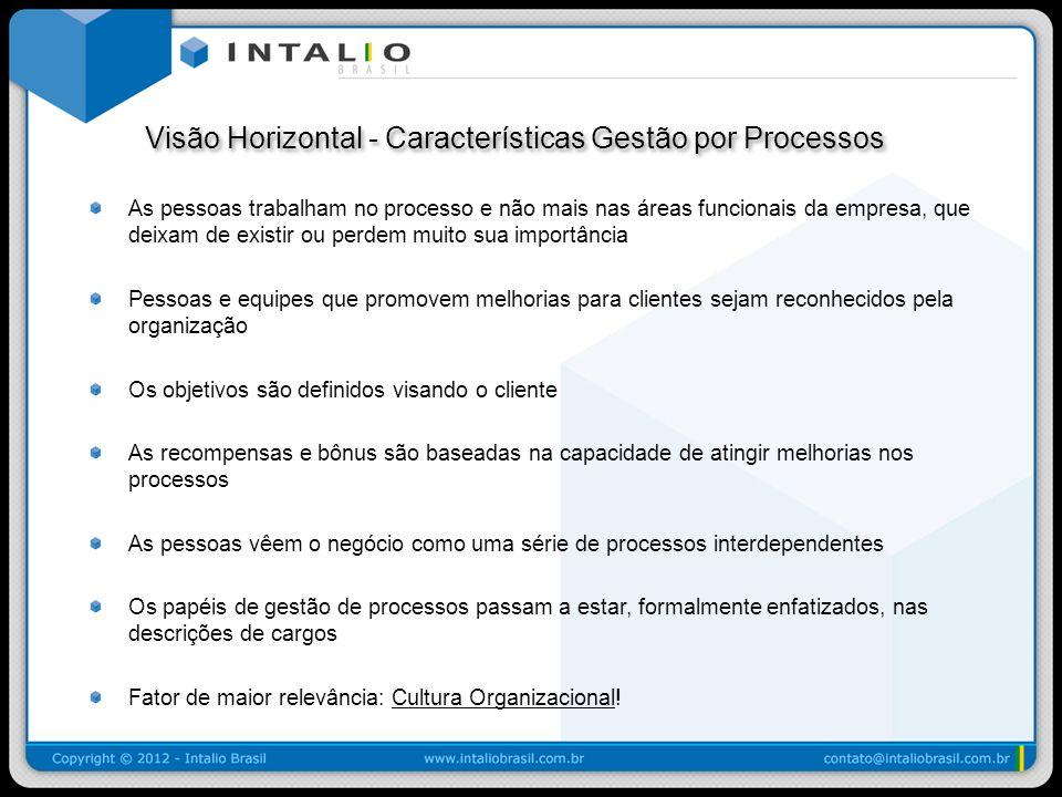 Visão Horizontal - Características Gestão por Processos