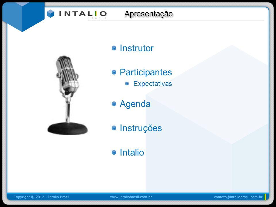 Instrutor Participantes Agenda Instruções Intalio Apresentação
