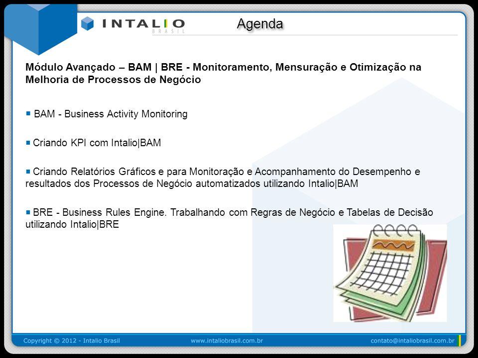 Agenda Módulo Avançado – BAM | BRE - Monitoramento, Mensuração e Otimização na Melhoria de Processos de Negócio.