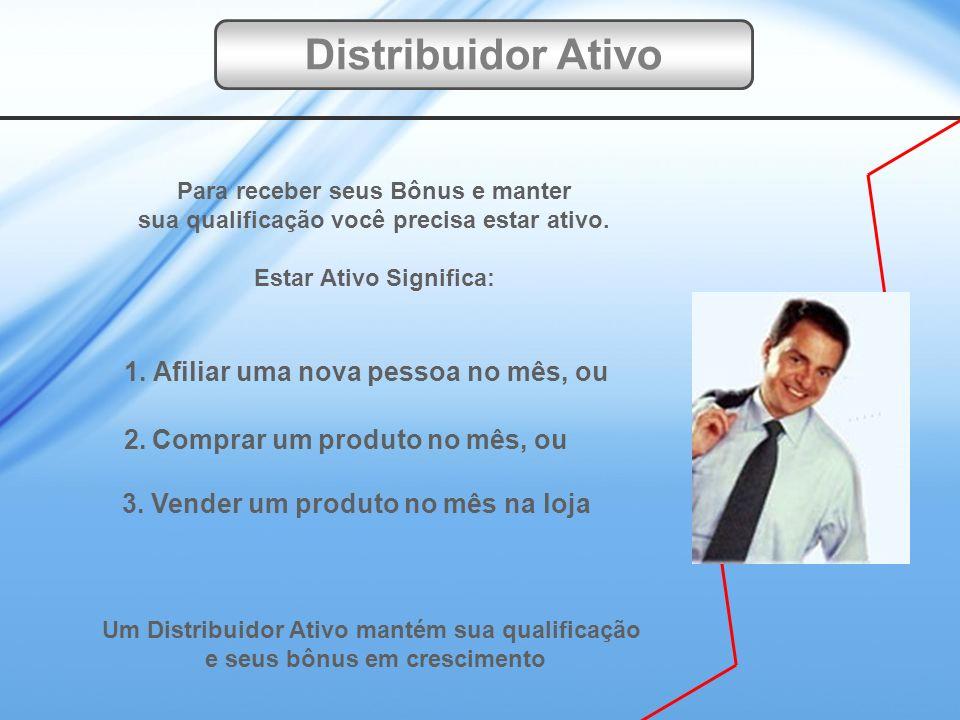 Distribuidor Ativo 1. Afiliar uma nova pessoa no mês, ou