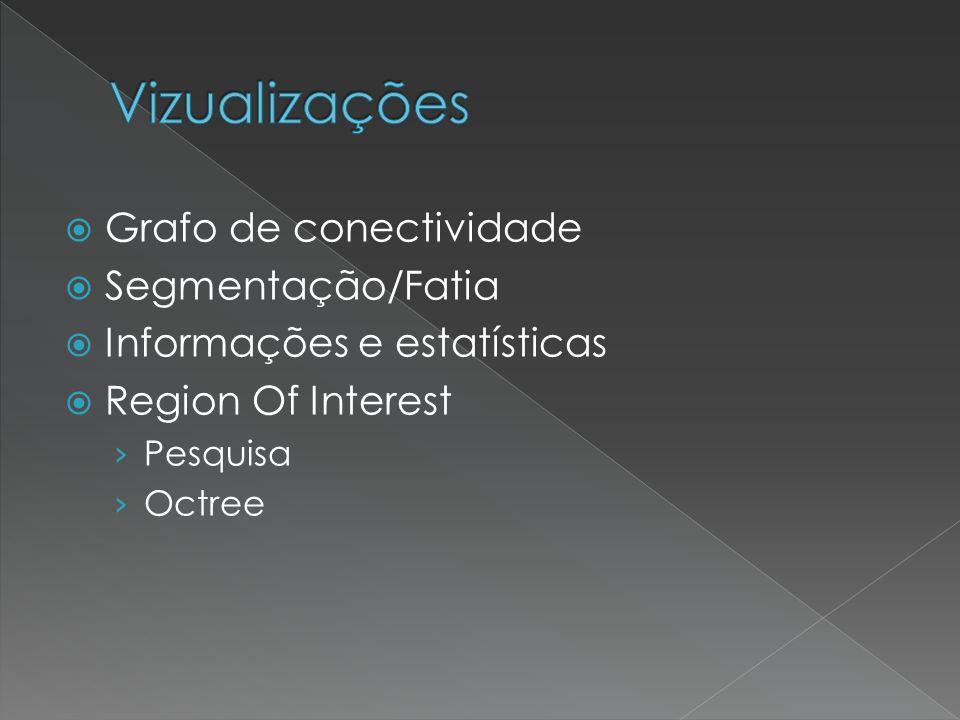 Vizualizações Grafo de conectividade Segmentação/Fatia