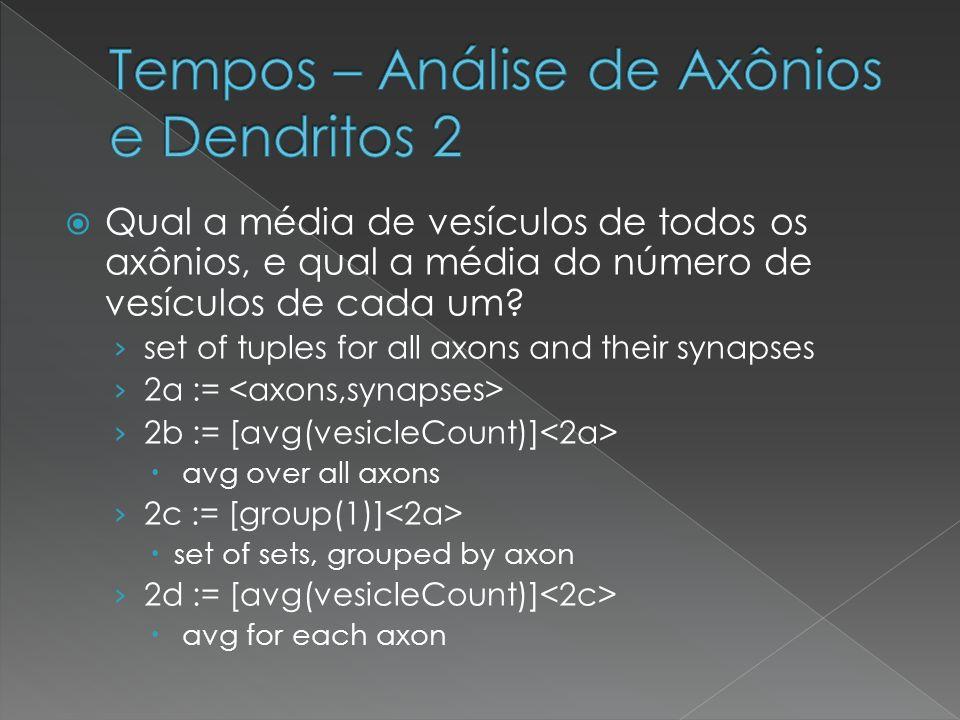 Tempos – Análise de Axônios e Dendritos 2