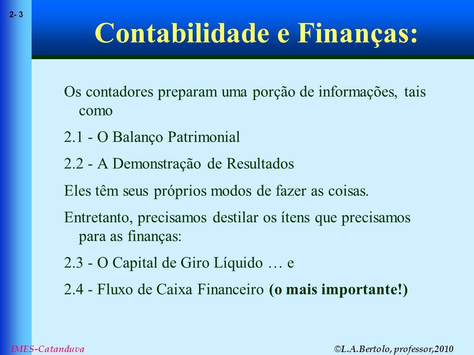 Contabilidade e Finanças: