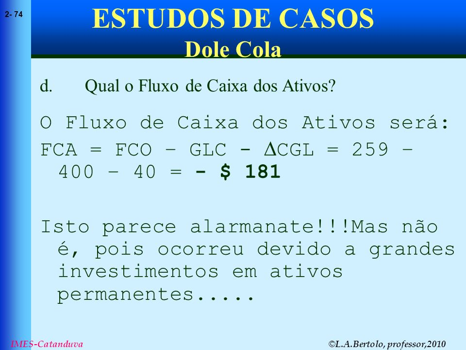 ESTUDOS DE CASOS Dole Cola