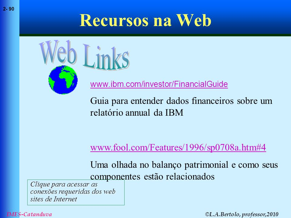 Recursos na Web Web Links