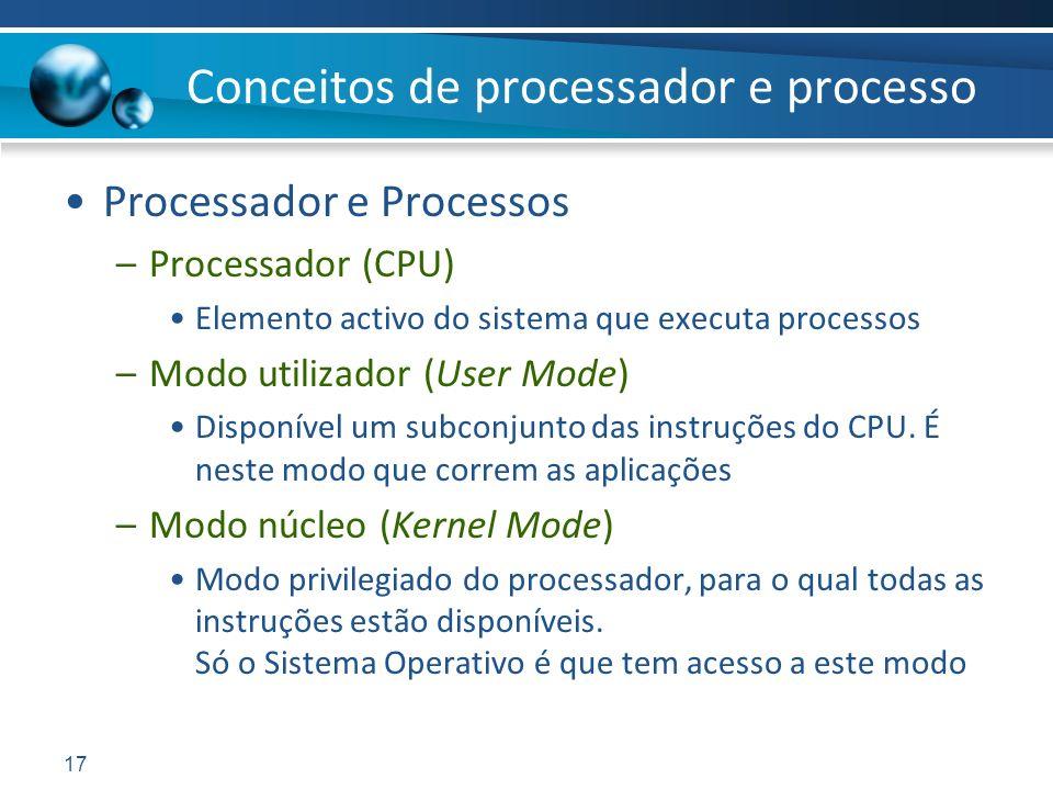 Conceitos de processador e processo
