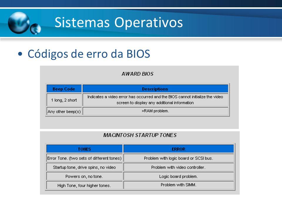 Sistemas Operativos Códigos de erro da BIOS