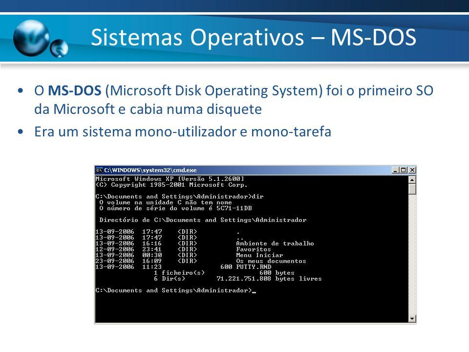 Sistemas Operativos – MS-DOS