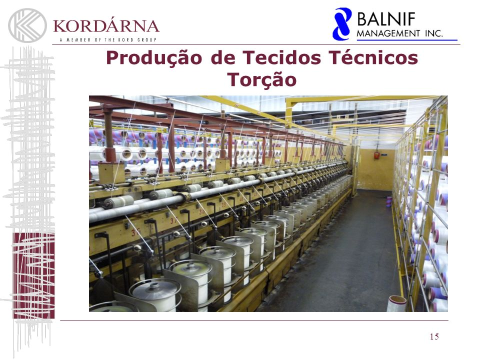 Produção de Tecidos Técnicos Torção