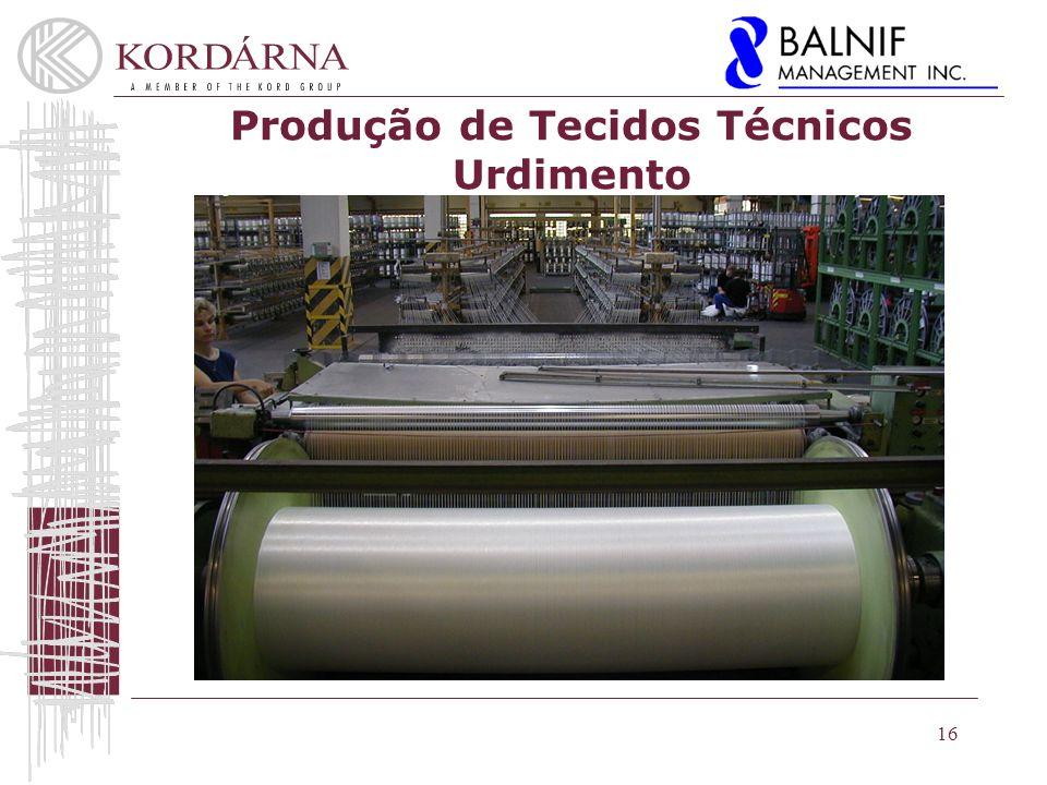 Produção de Tecidos Técnicos Urdimento