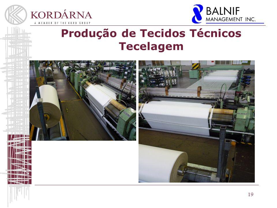Produção de Tecidos Técnicos Tecelagem
