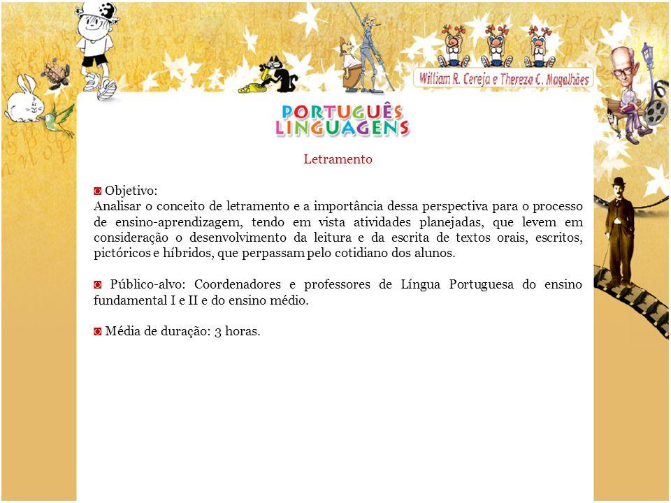 Letramento ◙ Objetivo: