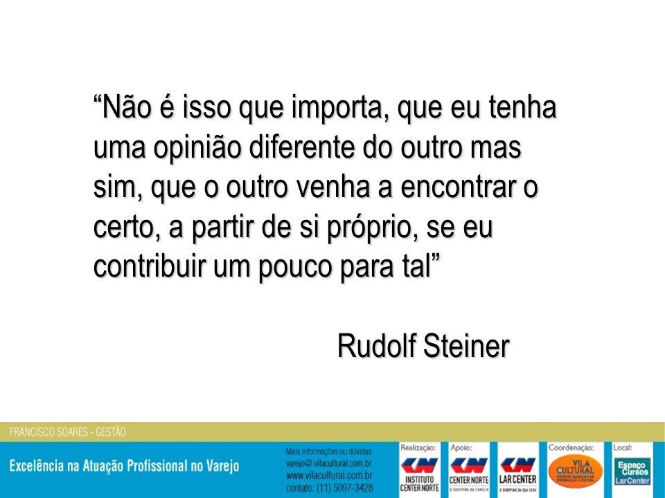 Não é isso que importa, que eu tenha uma opinião diferente do outro mas sim, que o outro venha a encontrar o certo, a partir de si próprio, se eu contribuir um pouco para tal Rudolf Steiner