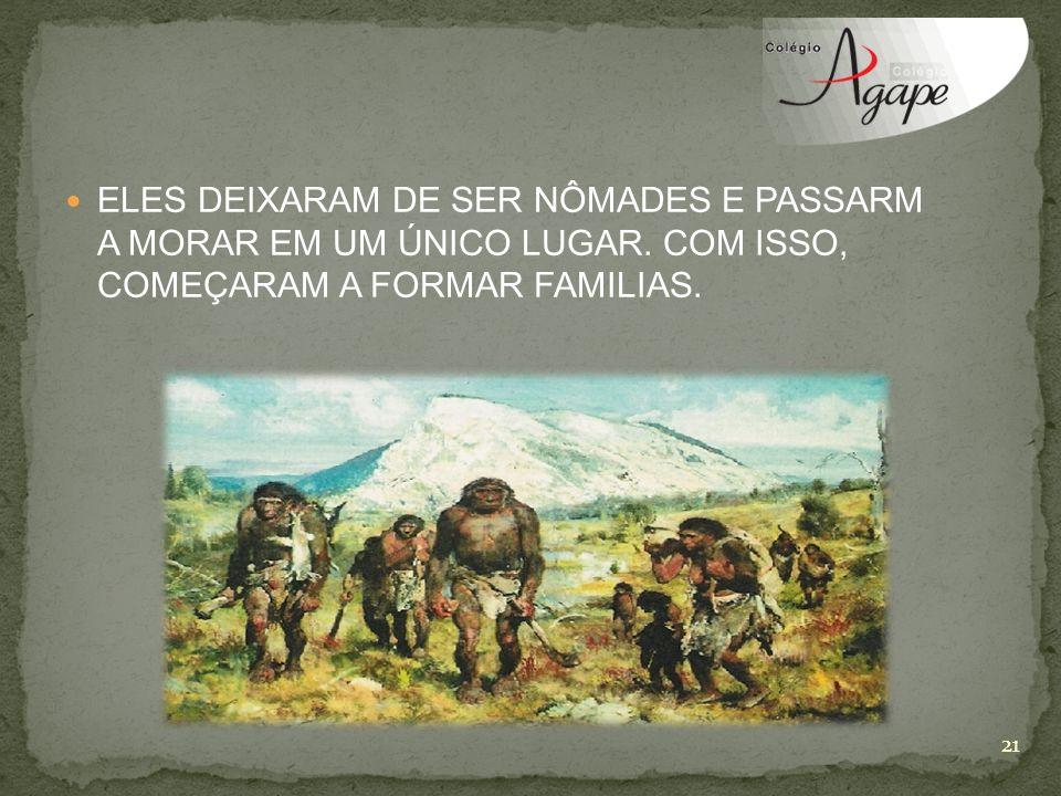 ELES DEIXARAM DE SER NÔMADES E PASSARM A MORAR EM UM ÚNICO LUGAR