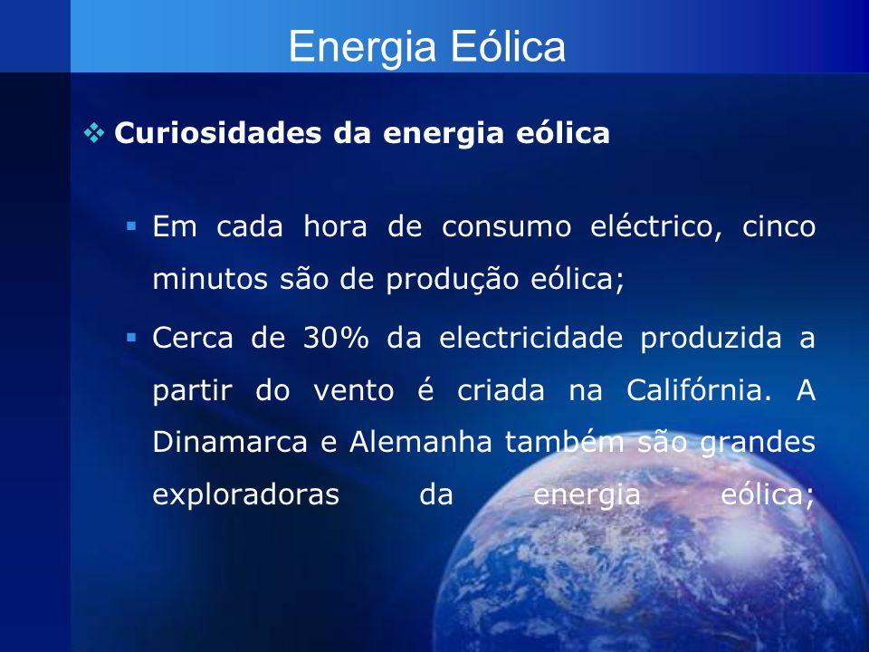 Energia Eólica Curiosidades da energia eólica