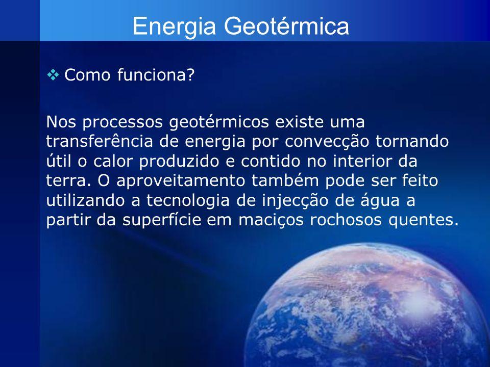 Energia Geotérmica Como funciona