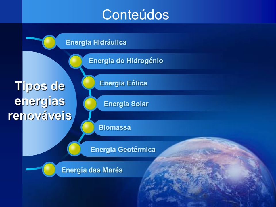 Tipos de energias renováveis