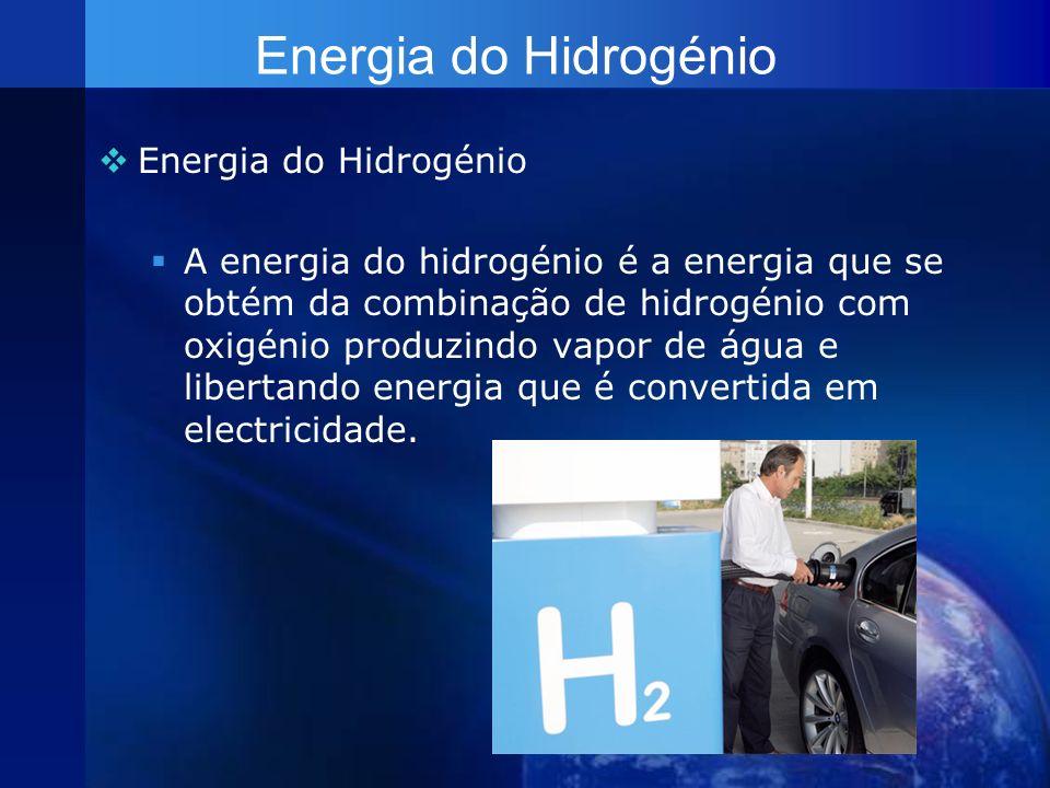 Energia do Hidrogénio Energia do Hidrogénio