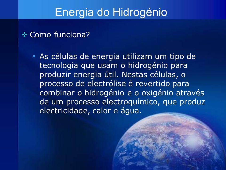 Energia do Hidrogénio Como funciona