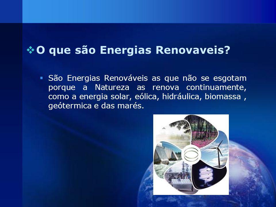 O que são Energias Renovaveis