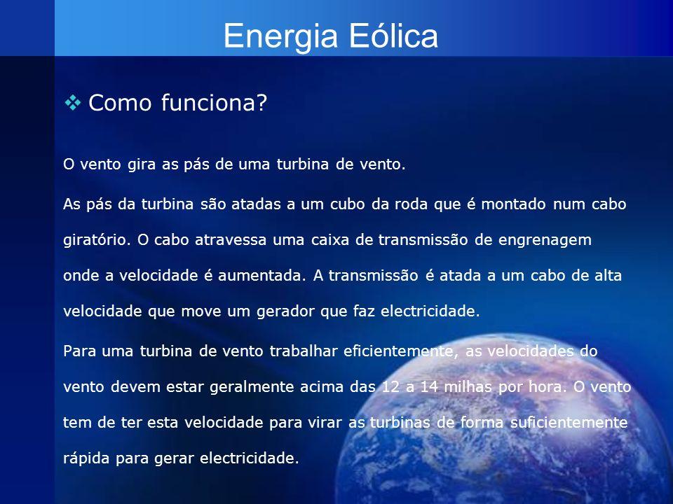 Energia Eólica Como funciona