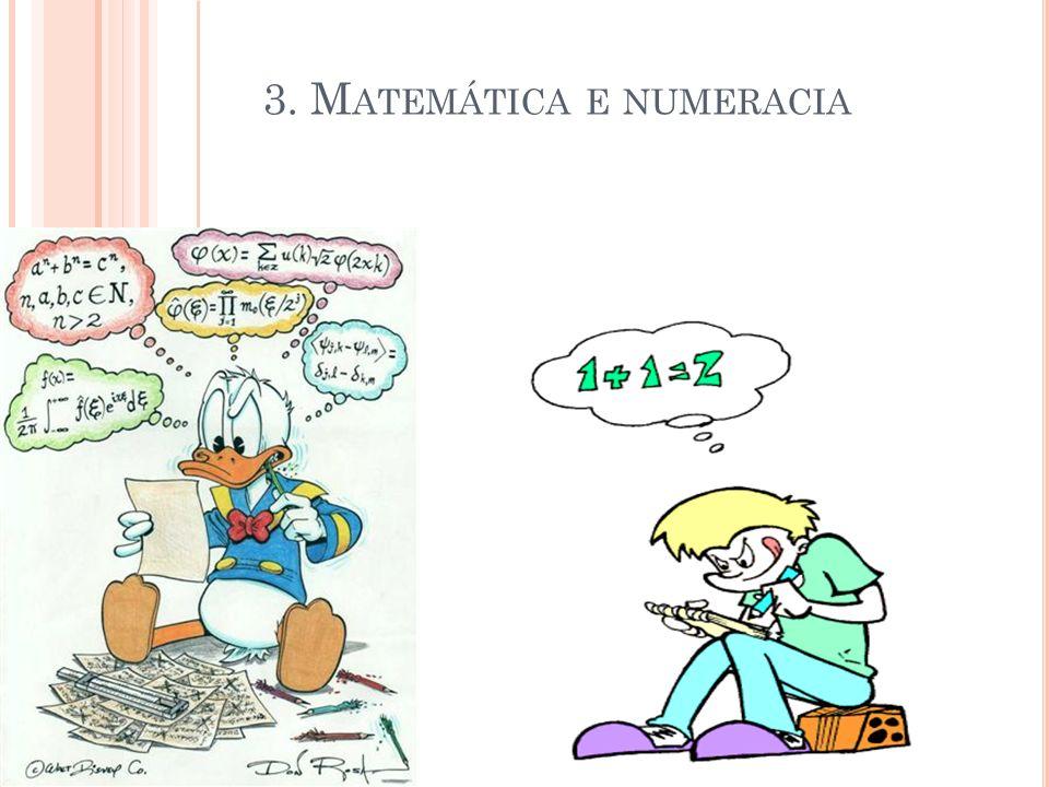 3. Matemática e numeracia