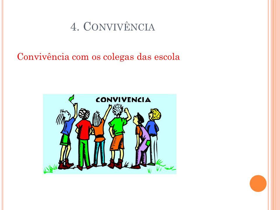 4. Convivência Convivência com os colegas das escola