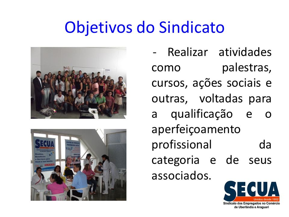Objetivos do Sindicato