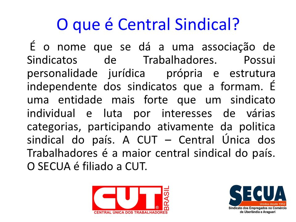 O que é Central Sindical