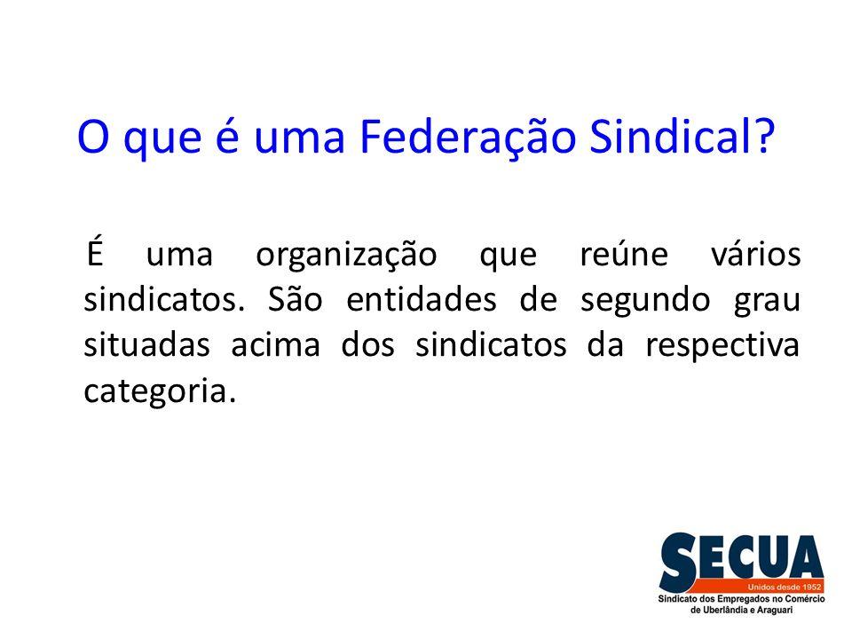 O que é uma Federação Sindical