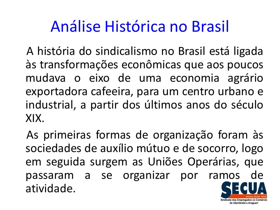 Análise Histórica no Brasil