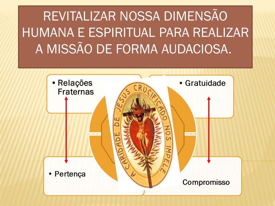 Revitalizar nossa dimensão humana e espiritual para realizar a missão de forma audaciosa.