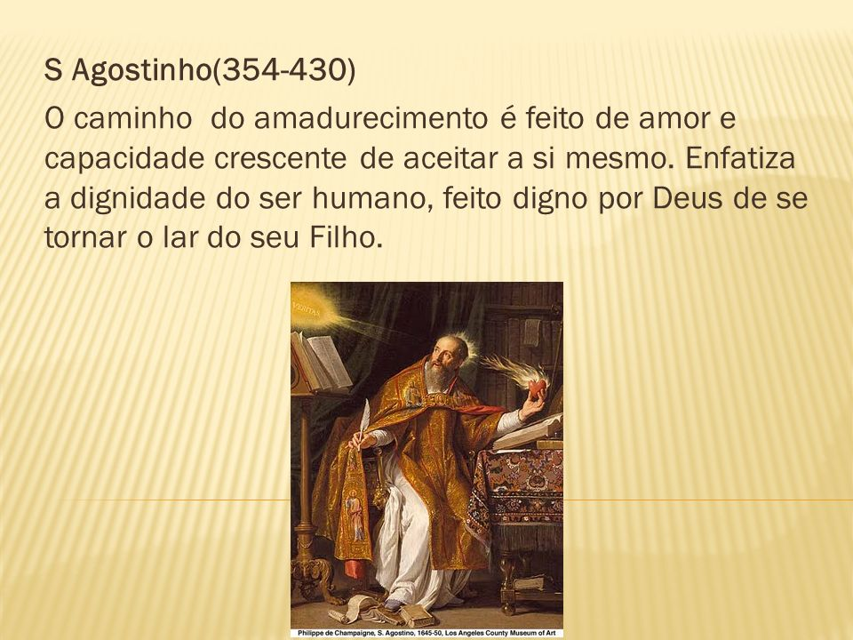 S Agostinho(354-430)