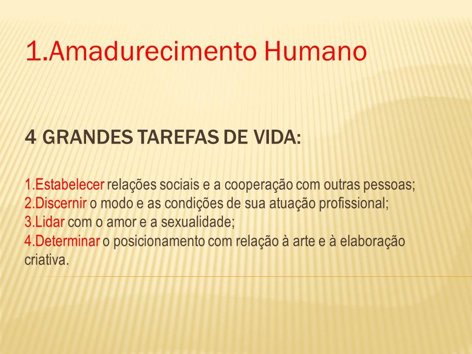 1.Amadurecimento Humano
