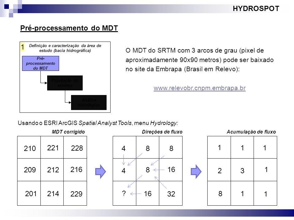 Pré-processamento do MDT