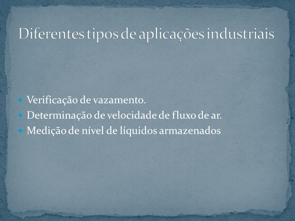 Diferentes tipos de aplicações industriais